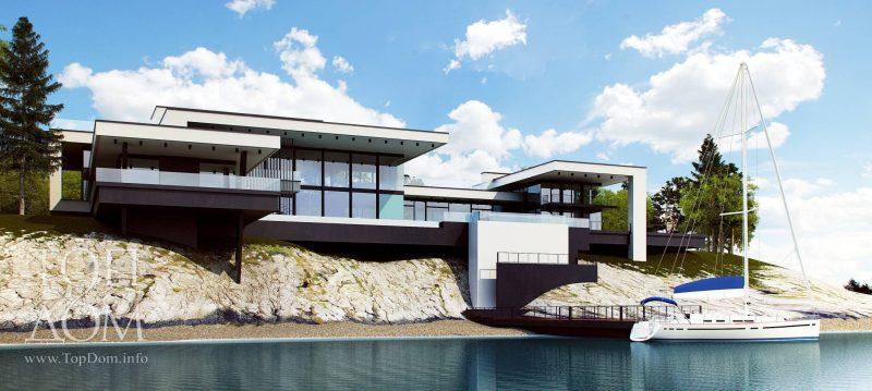 Индивидуальный проект дома с элитной отделкой фасада