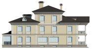 Внутренний фасад дома с террасой