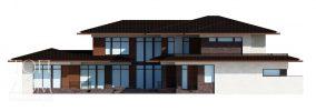 Главный фасад проекта разноуровневого дома