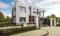Реконструкция дома в стиле конструктивизма