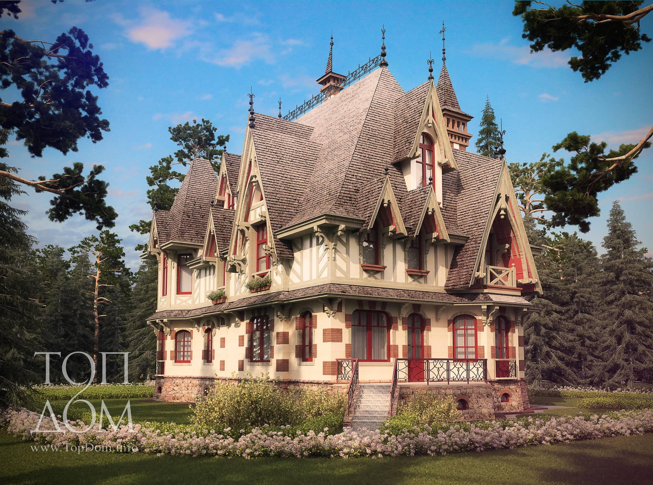 Загородный коттедж в готическом стиле