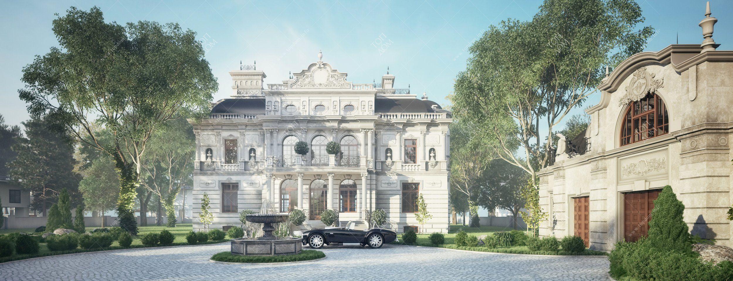 Индивидуальный проект дома в стиле барокко Роскошные Дома в Стиле Барокко