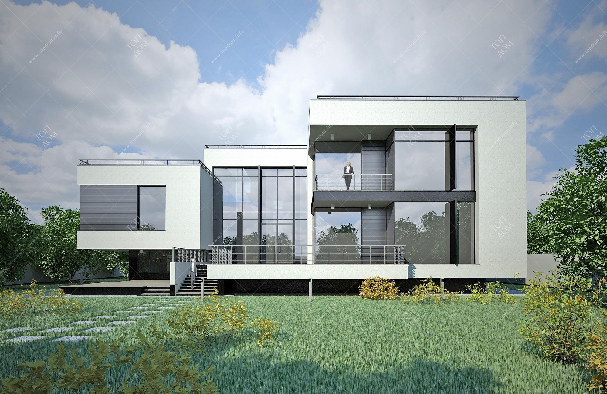 Проект дома в стиле хай тек общая
