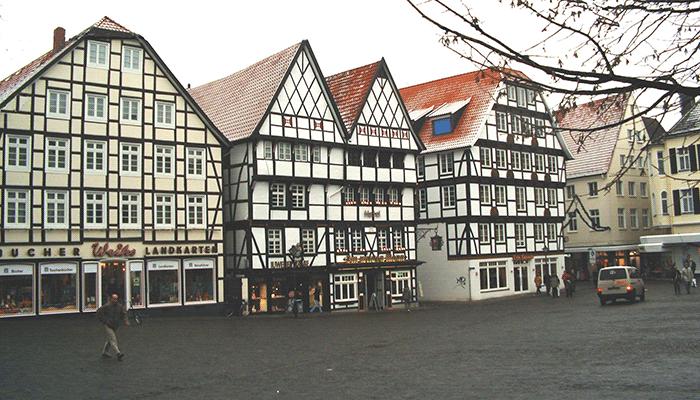 Крыши домов фахверк
