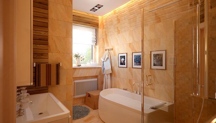 Возможности оформления ванной в загородном доме