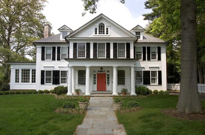 Проект дома в колониальном стиле