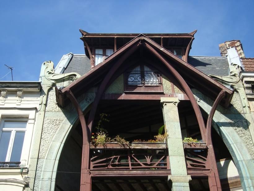 Типичная конструкция фасада для модерна