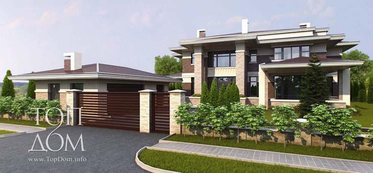 Проект современного европейского дома