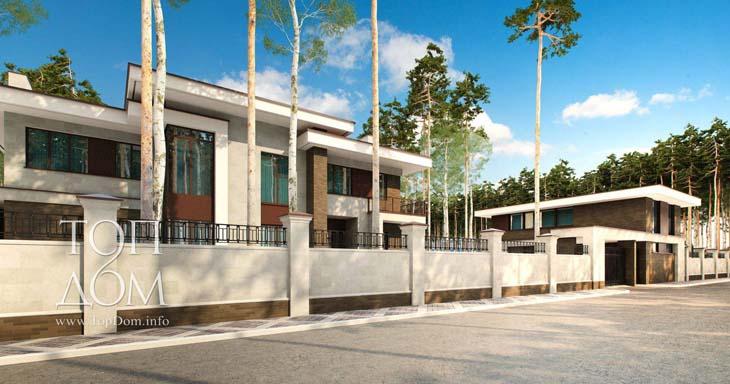 Современный проект дома с плоской крышей