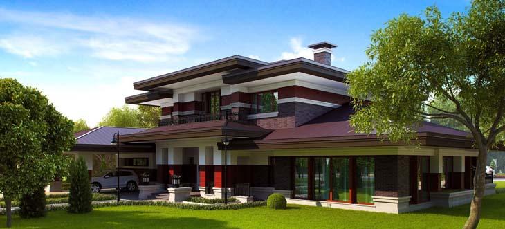 Готовый проект монолитно-кирпичного дома