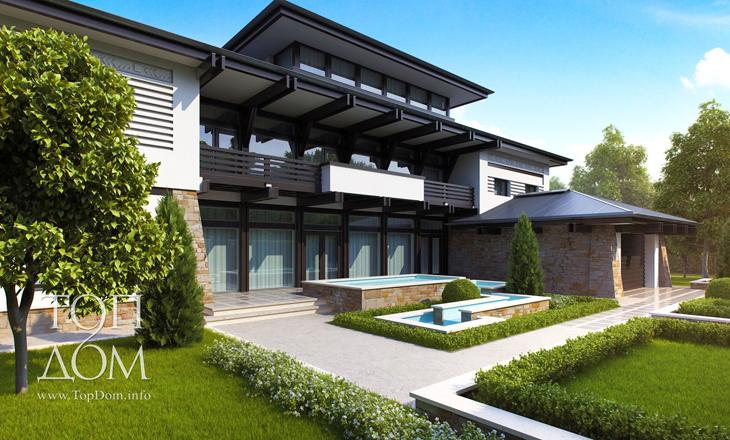 Частное строительство дома – проект дома с мансардой