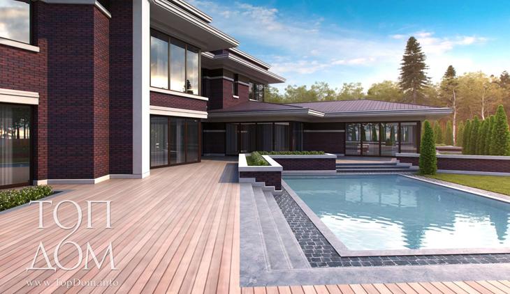 Элитный коттедж с бассейном