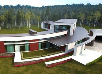 Оригинальный проект строительства дома в стиле минимализма