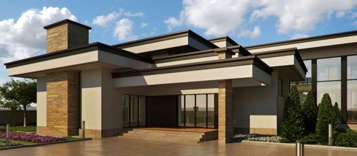 Проект современного дома с монолитным фундаментом
