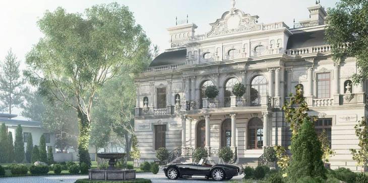 Проект строительство монолитного дома в стиле рококо