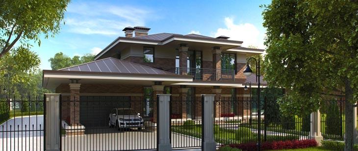 Архитектурный проект кирпично-монолитного дома
