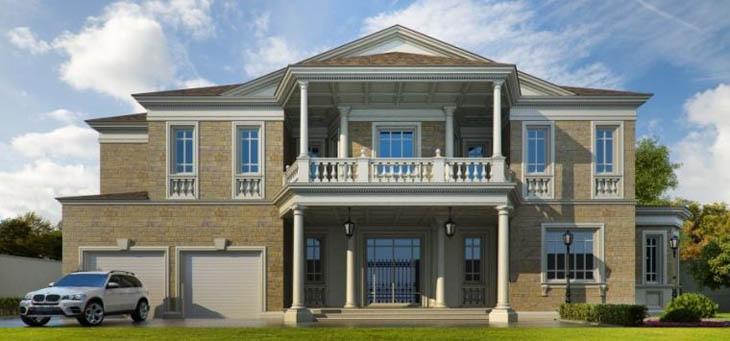 Проект капитального строительство дома в классическом стиле