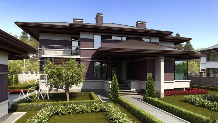 Проект строительства дома и гаража из кирпича