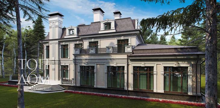 Проект строительства кирпичного дома в неоклассическом стиле
