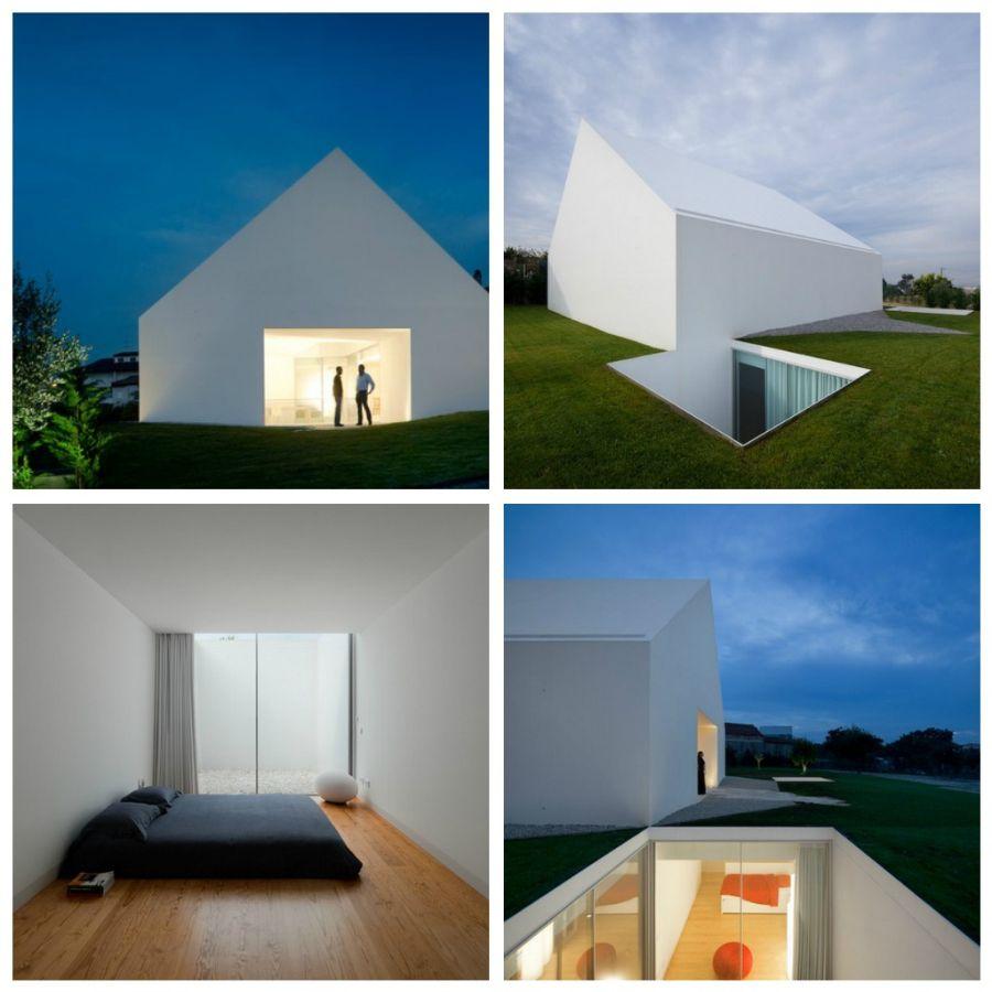 Белый дом, созданный архитекторами Manuel Aires Mateus