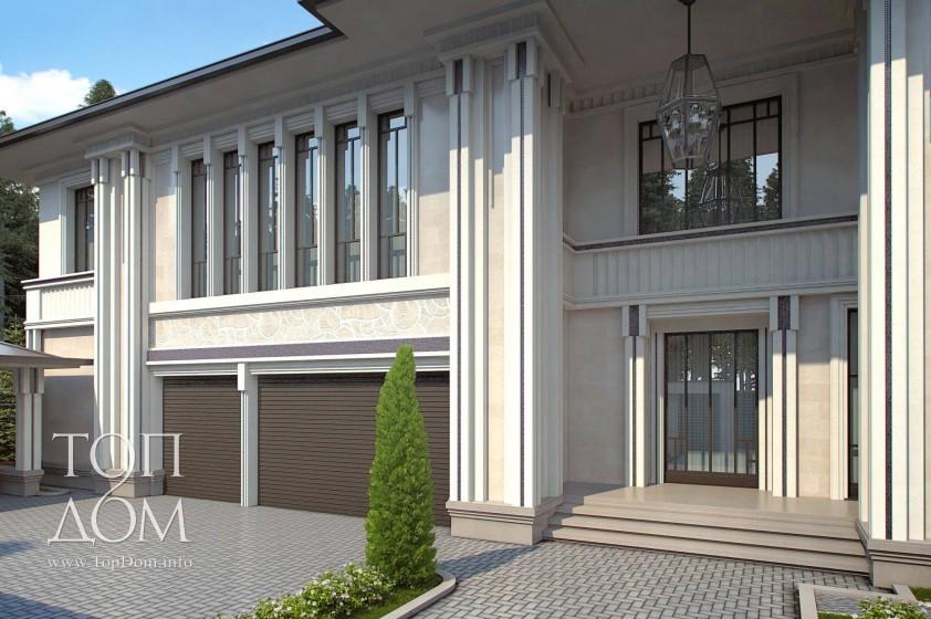 Проект дома в стиле арт-деко
