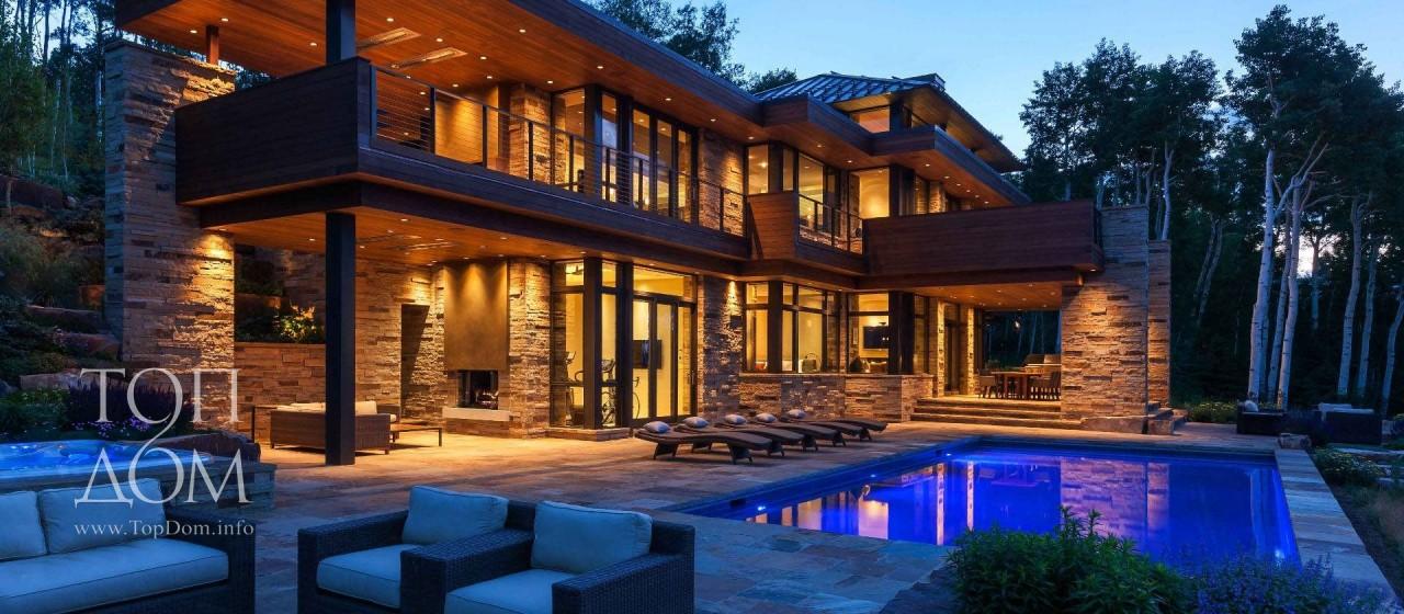 Строительство дома в стиле шале в горах