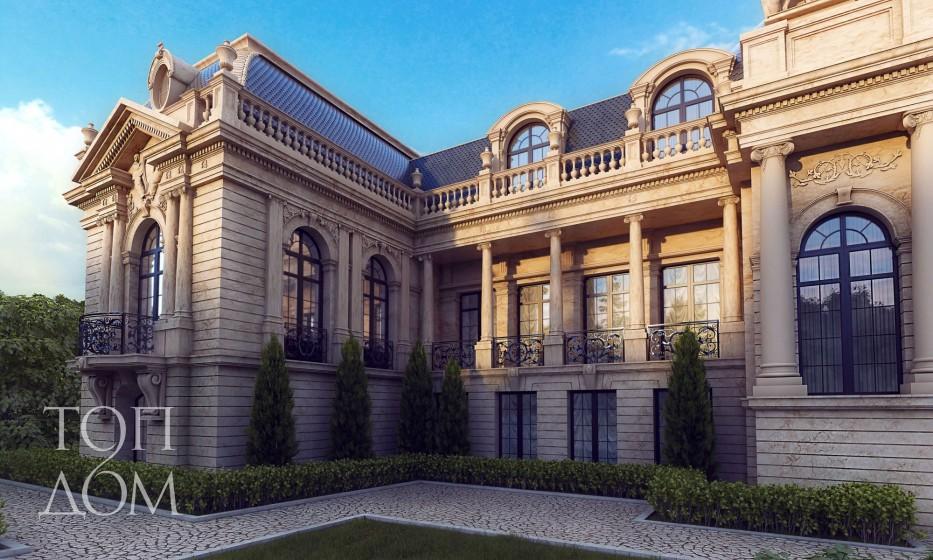 Архитектурный проект барочного дворца