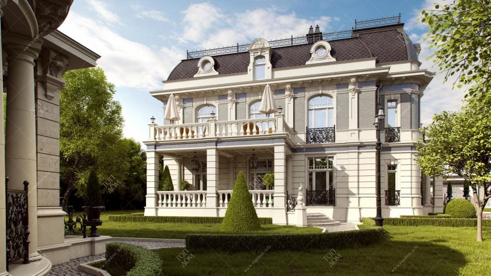 Классический декор фасада дома