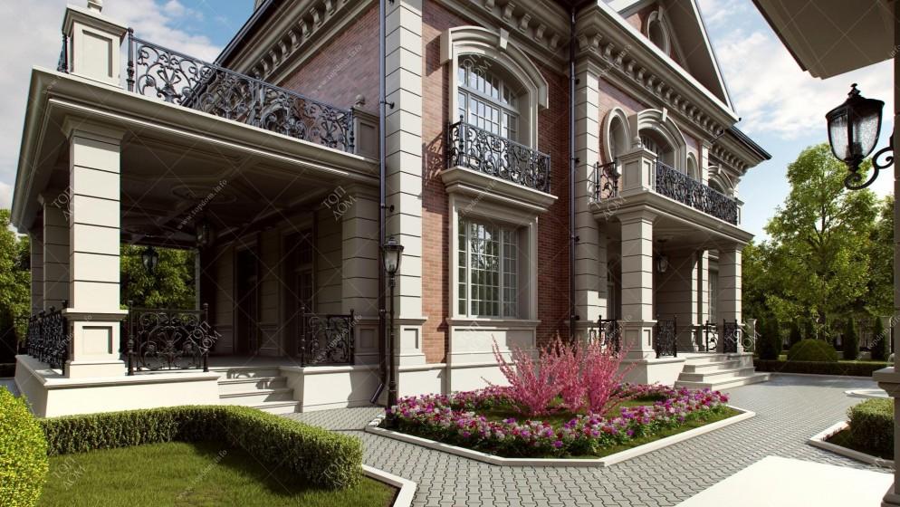 Частный загородный дом с привлекательным фасадом