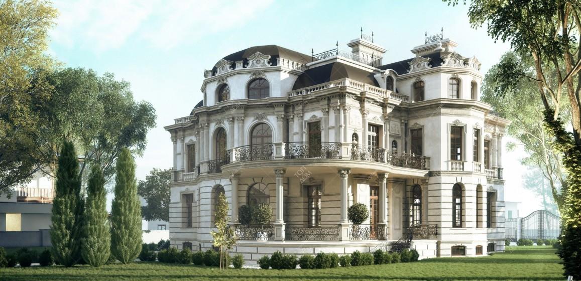 Дом с фасадом в стиле барокко