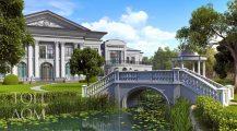 Проект дома с ландшафтным дизайном