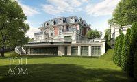 Общий вид четырехуровневого дома