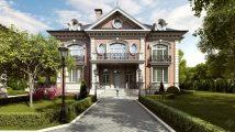Дизайн фасада частного дома в английском стиле