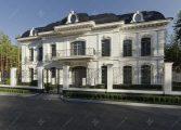 Белый дом в классическом стиле