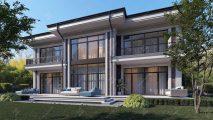 Бело-коричневый дом
