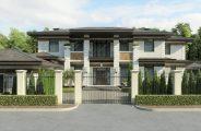 Арт-деко фасад дома