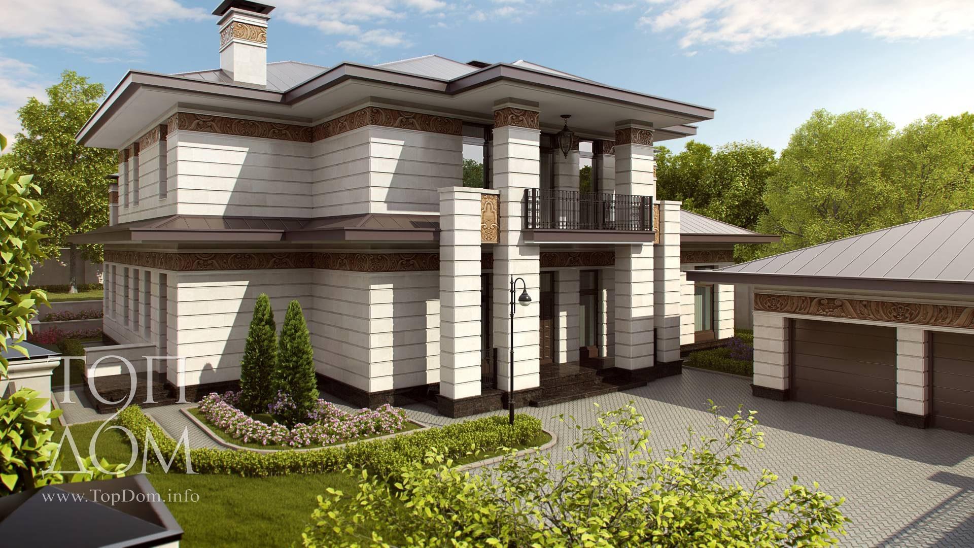 Небольшой кирпичный дом с гаражом