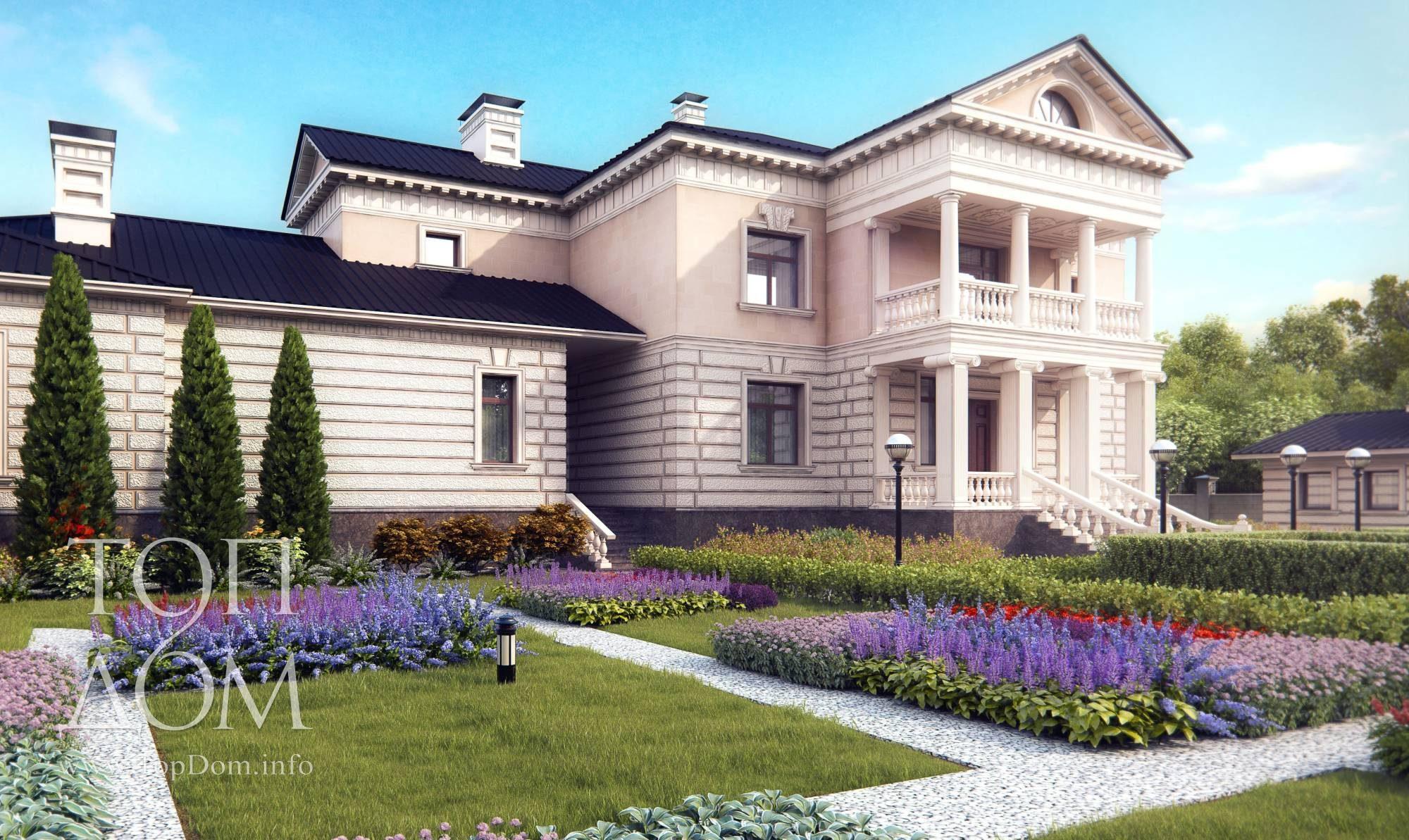 фасад дома фото частных домов с мансардой