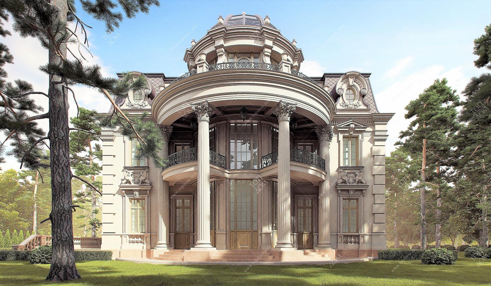 Дом с полукруглым эркером фото
