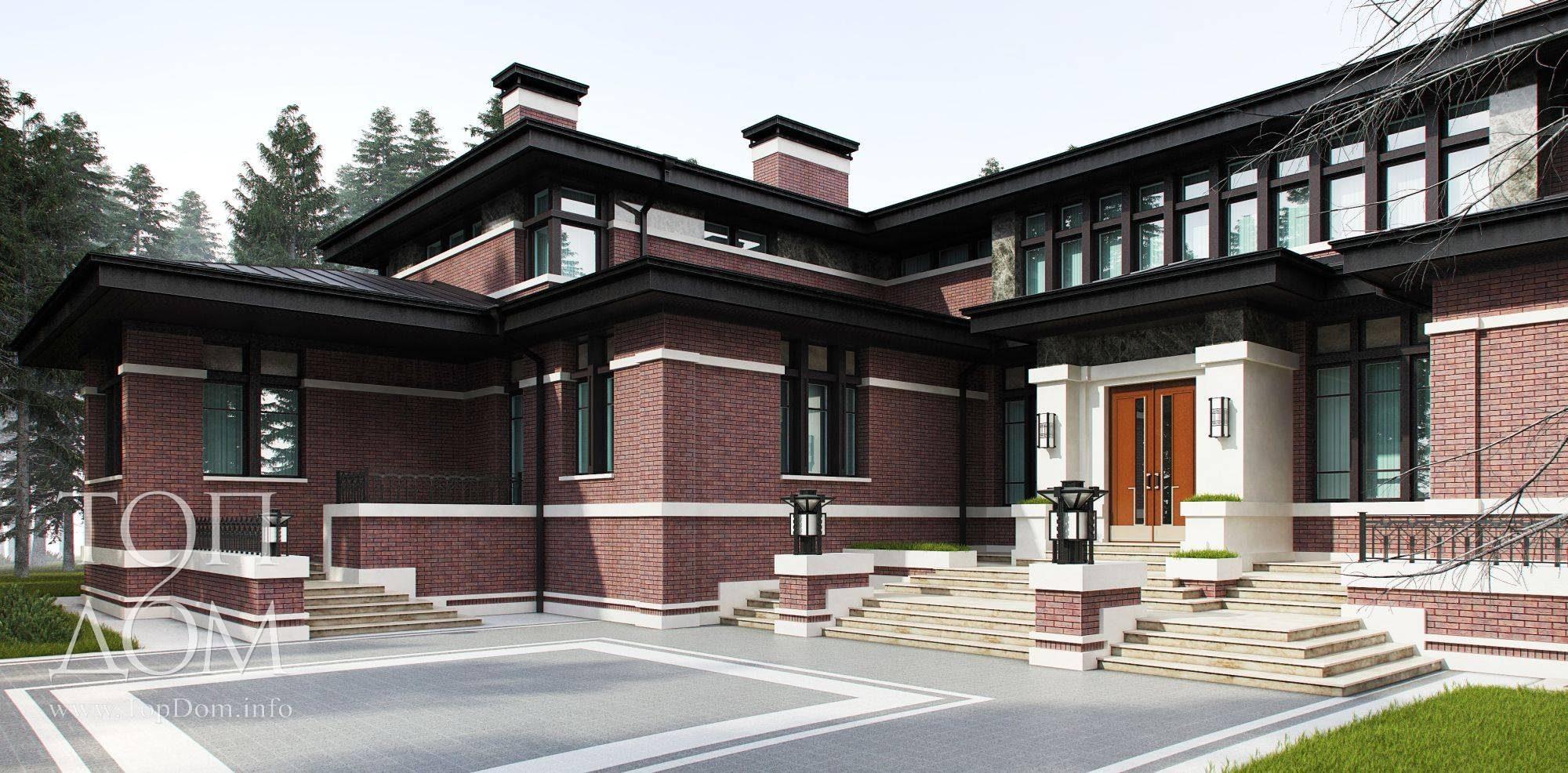 Проект одноэтажного дома в стиле барокко